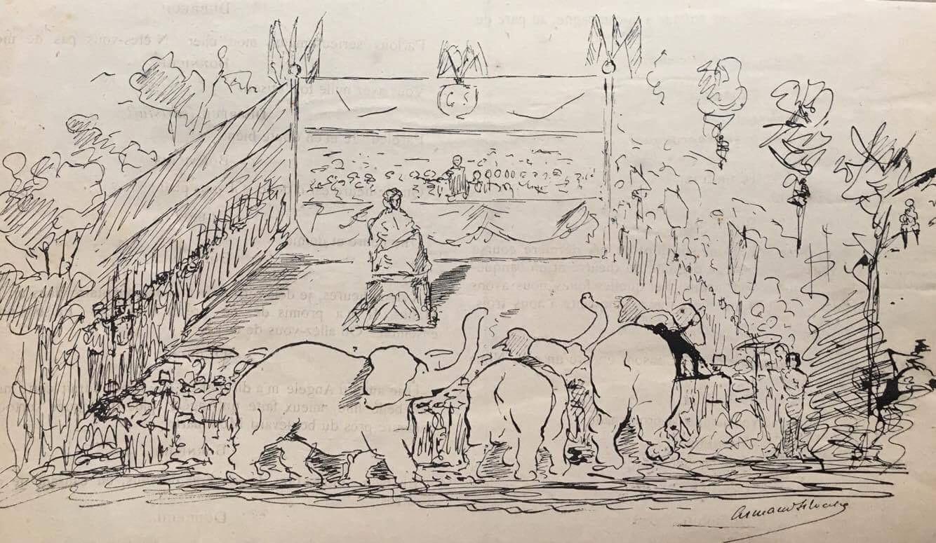 Armand Silvestre dessin