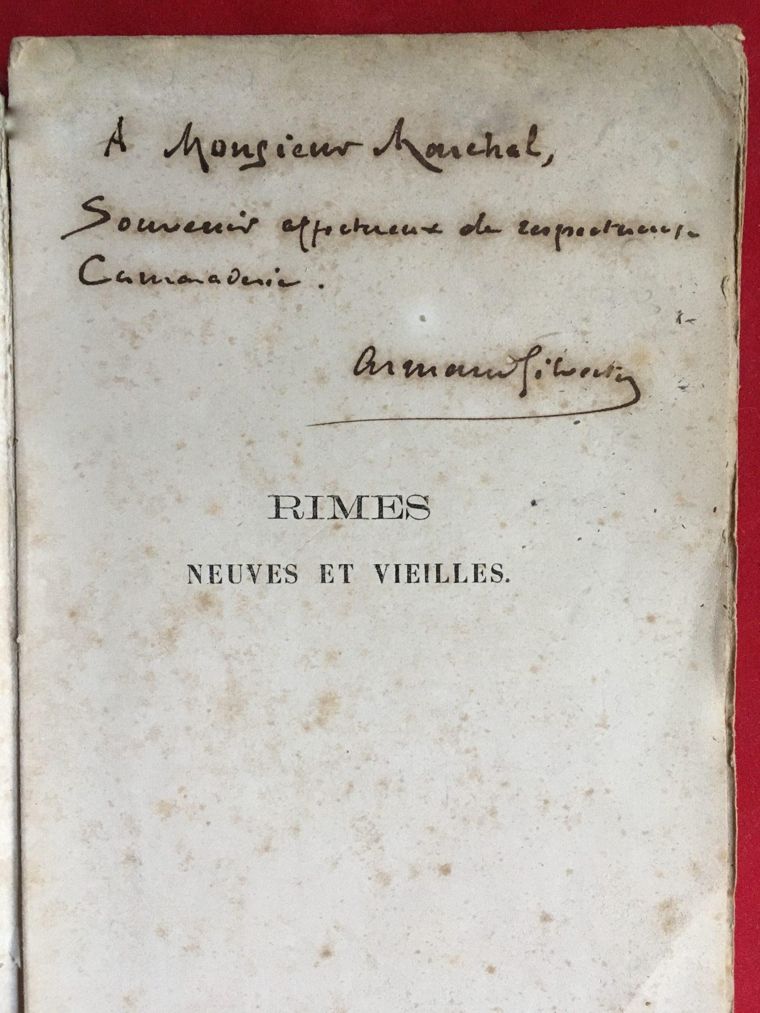 Autographe A.Silvestre