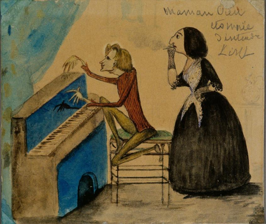 Franz Listz et George Sand par Maurice