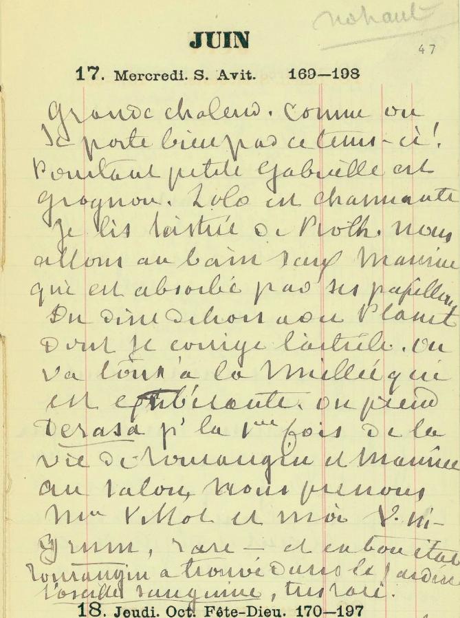 Agenda George Sand 1868