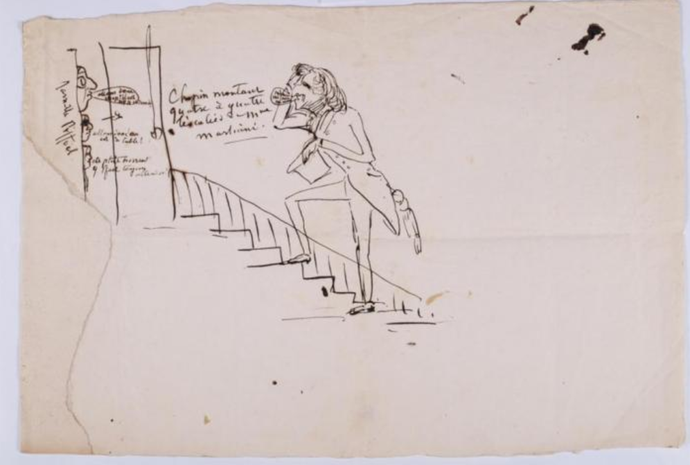 Caricature de Sand, Chopin