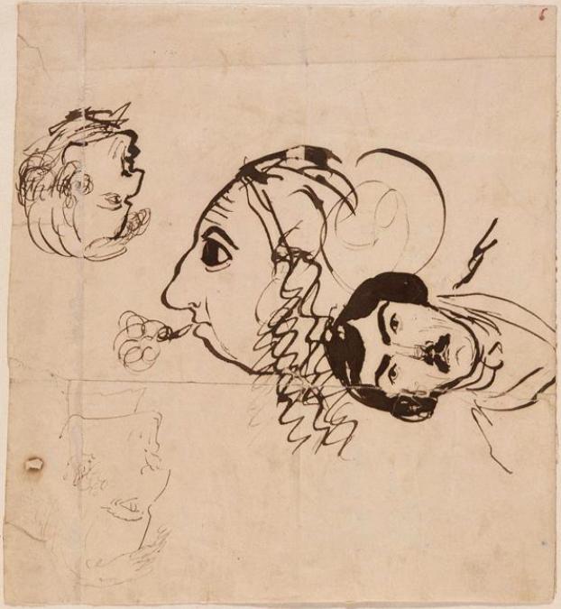Caricatures Sand.Chopin.Delacroix