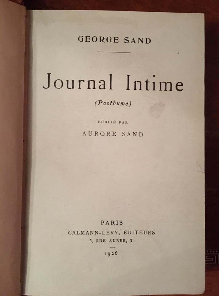 Edition originale du Journal Intime