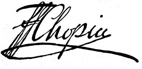Frédéric Chopin Signature