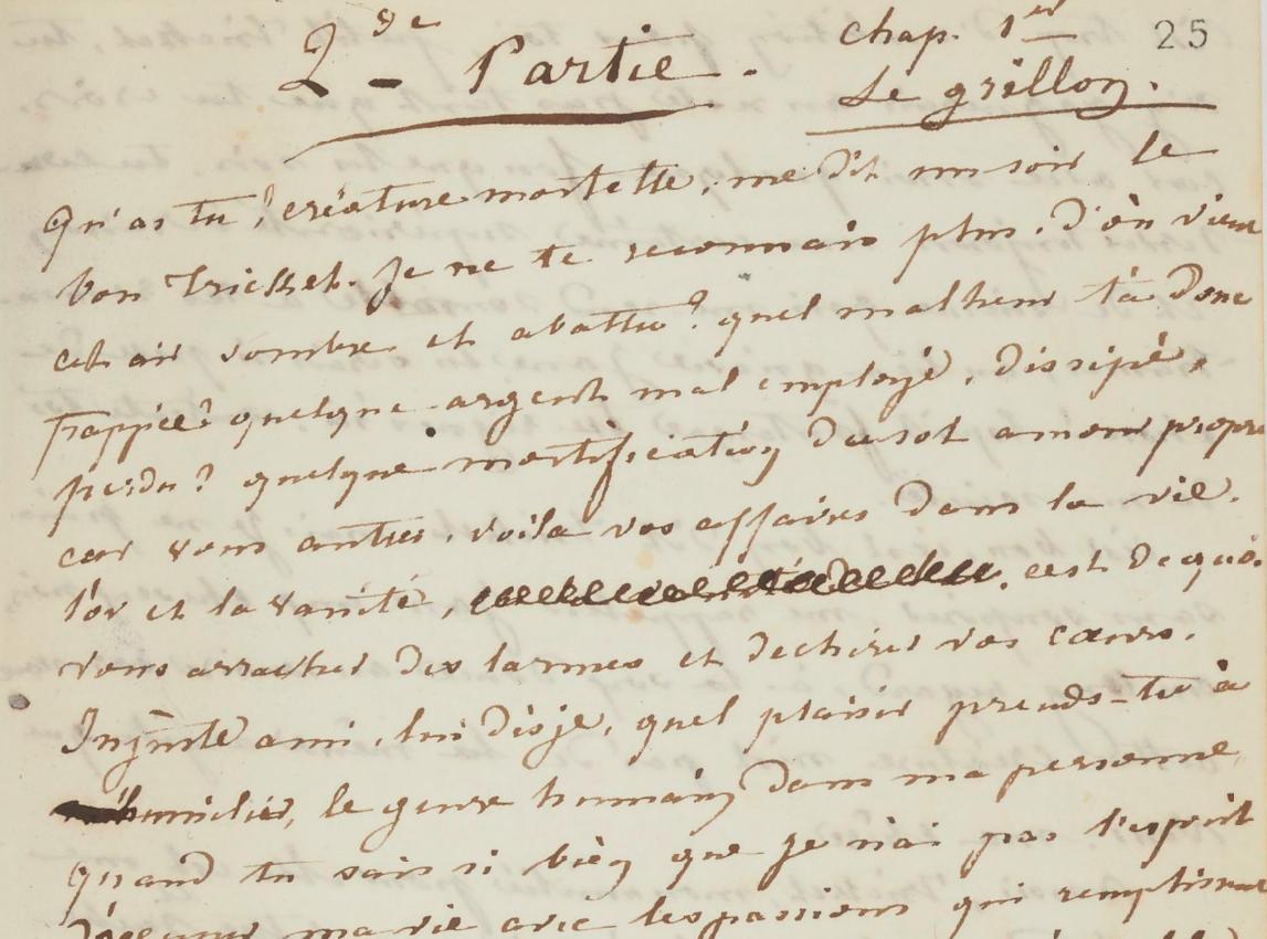 Histoire du Rêveur manuscrit