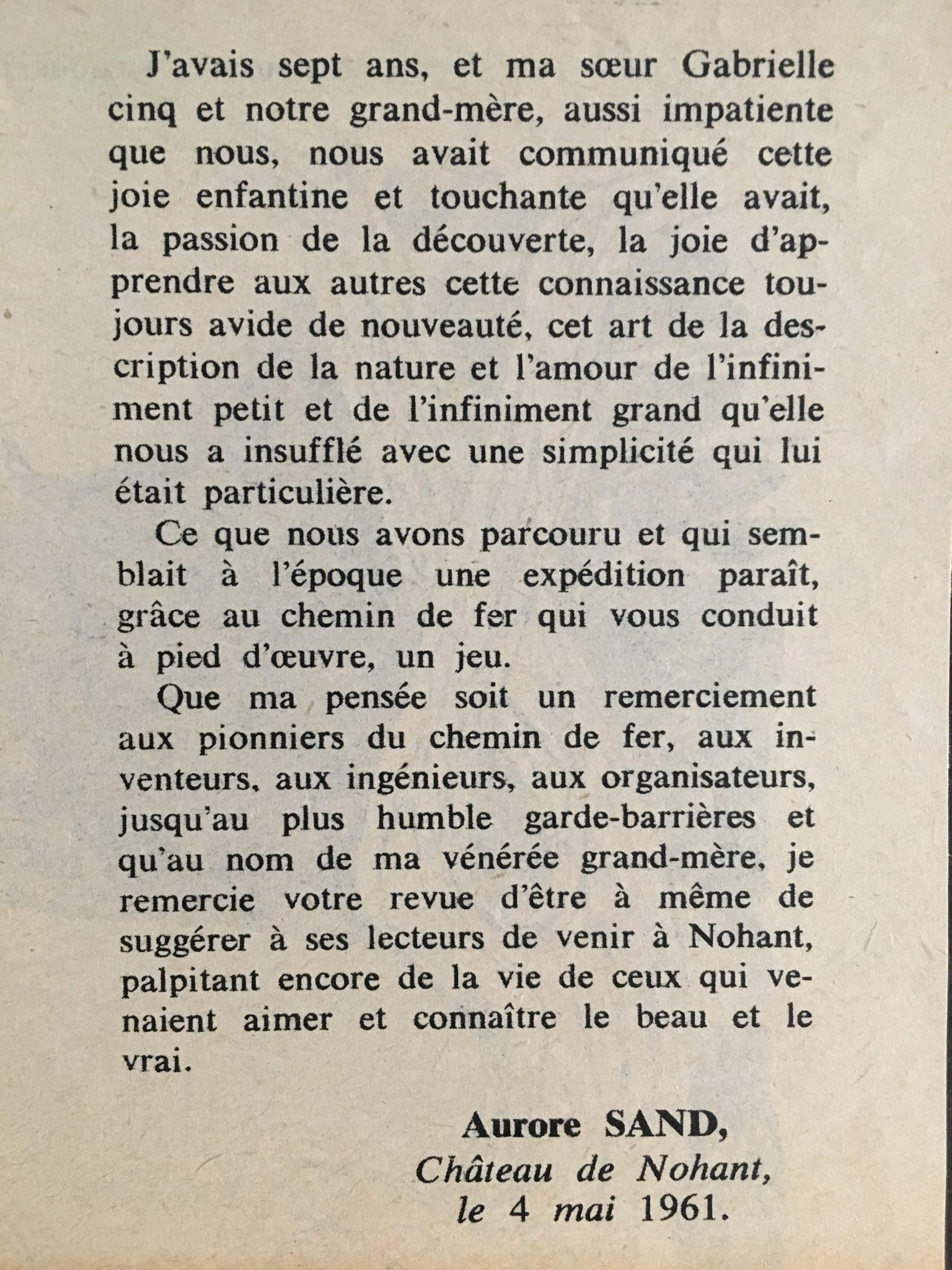 George Sand par Aurore Sand