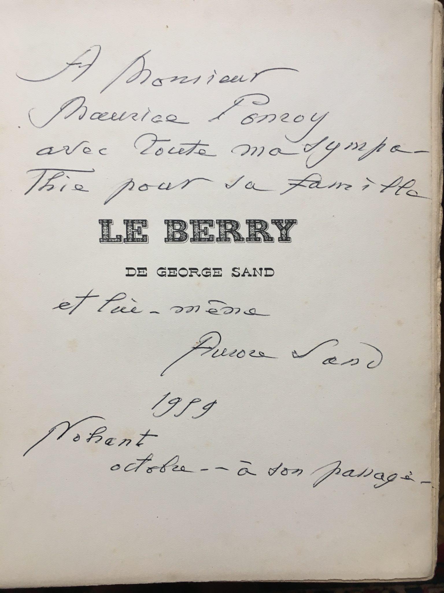 Autographe de Aurore Sand