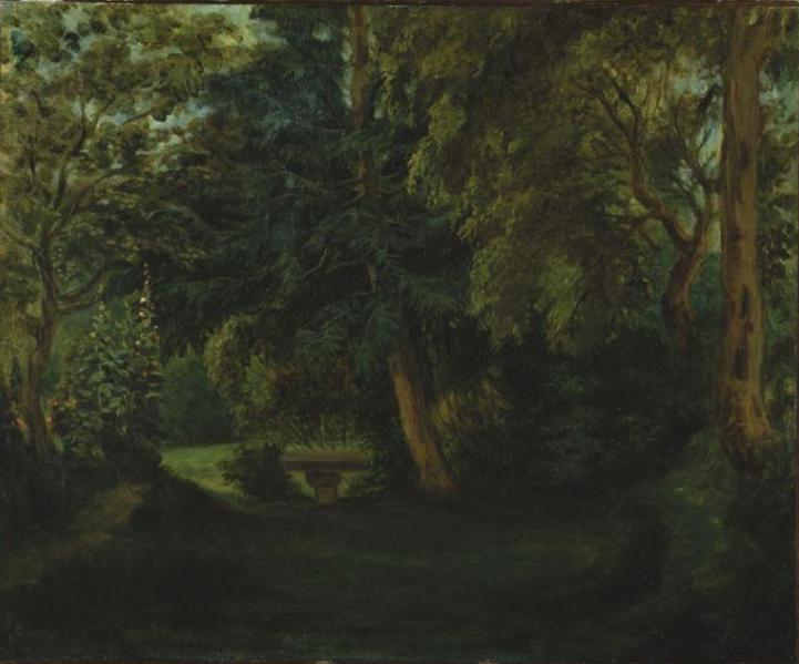 Nohant, le parc 1840 par E.Delacroix