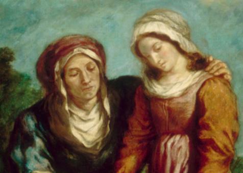 Sainte Anne, Delacroix, detail.