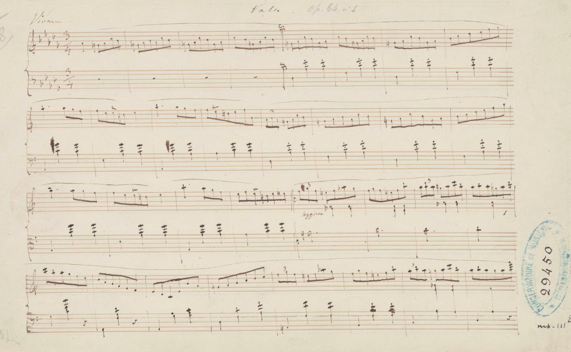 Valse OP 64 page 1. F.Chopin