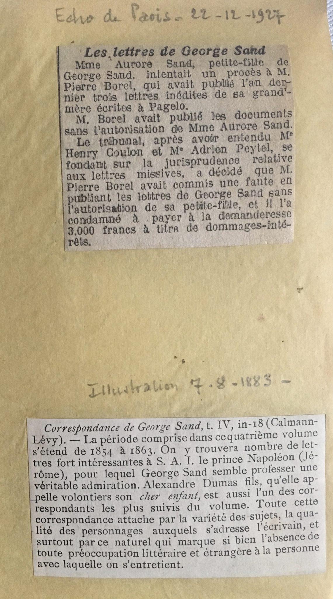 Articles Les lettres