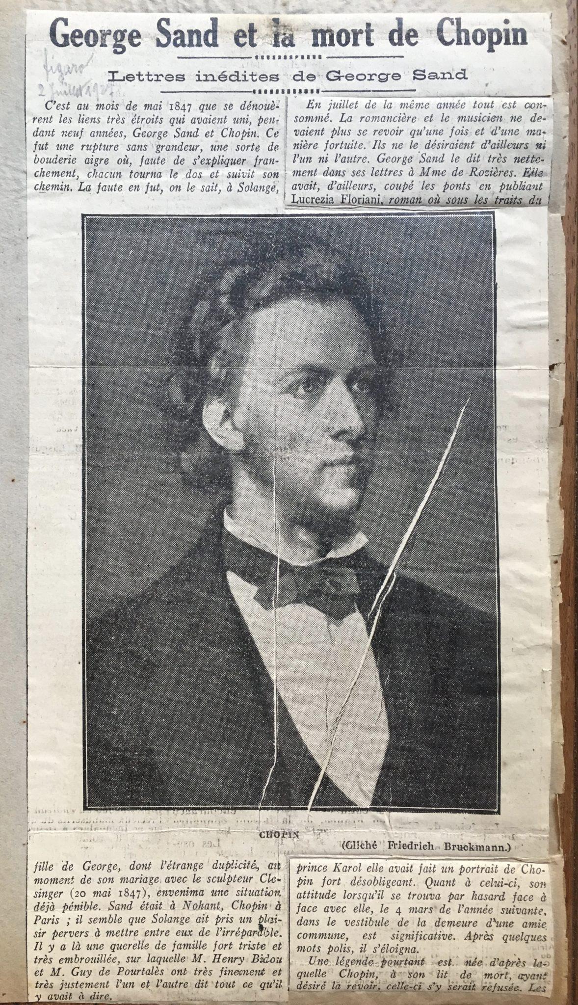 George Sand et la mort de Chopin