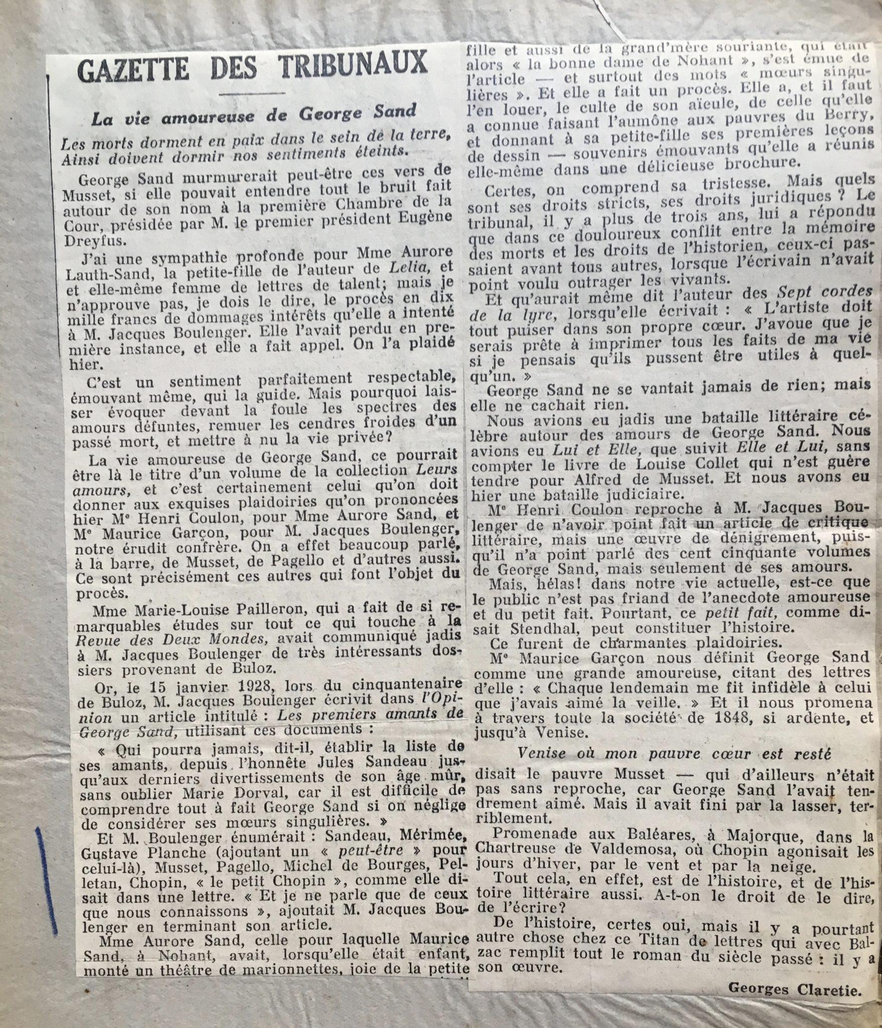 Gazette des tribunaux 1932