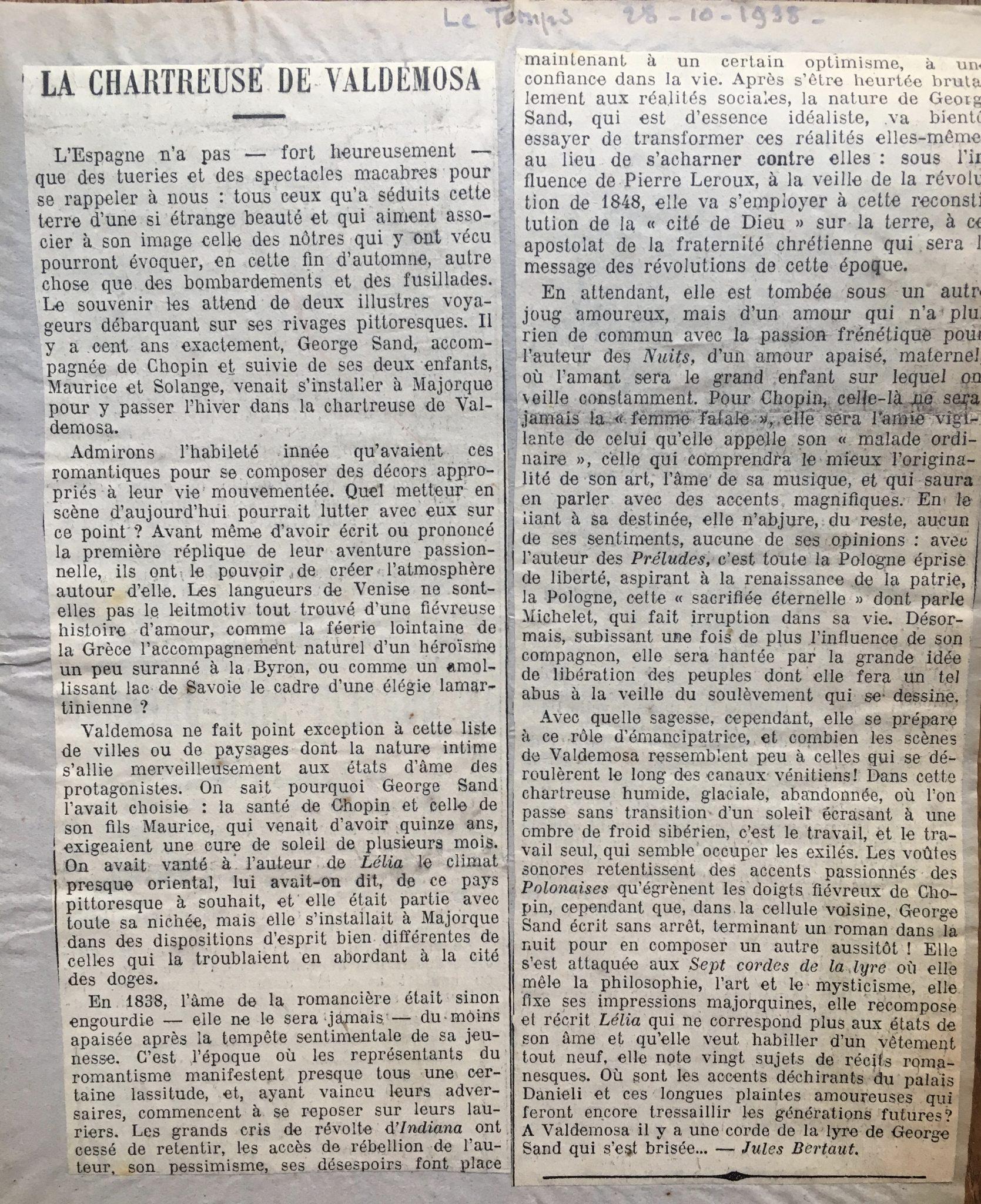 La Chartreuse de Valldemosa 1838