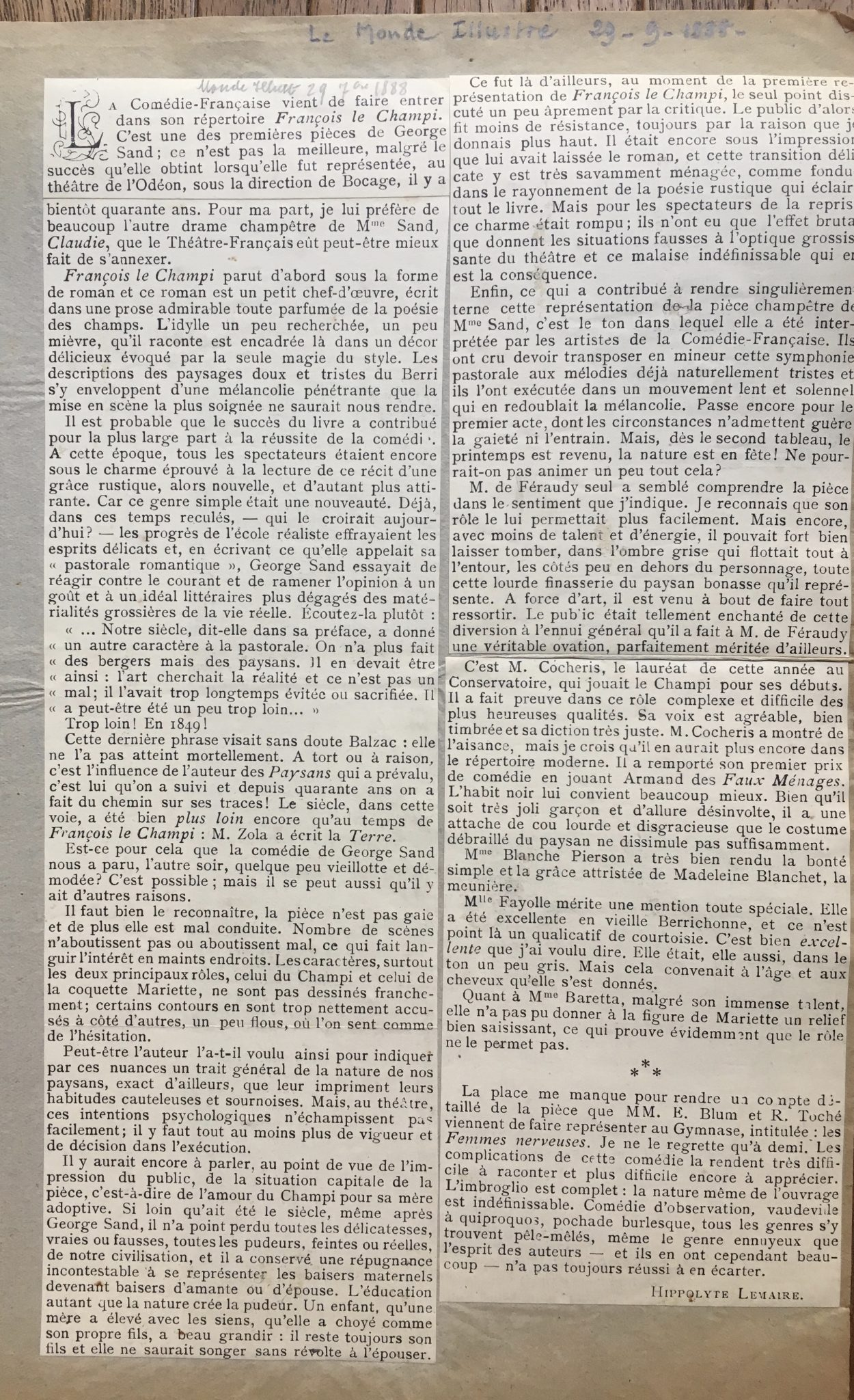 Le Monde Illustré 1888
