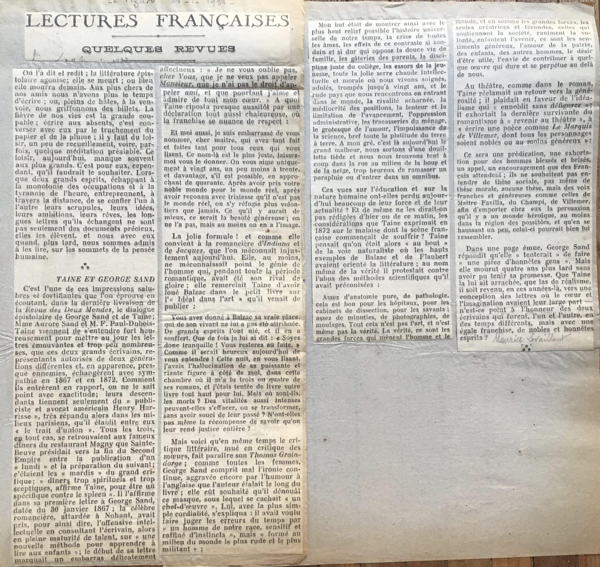 Le Figaro 1933