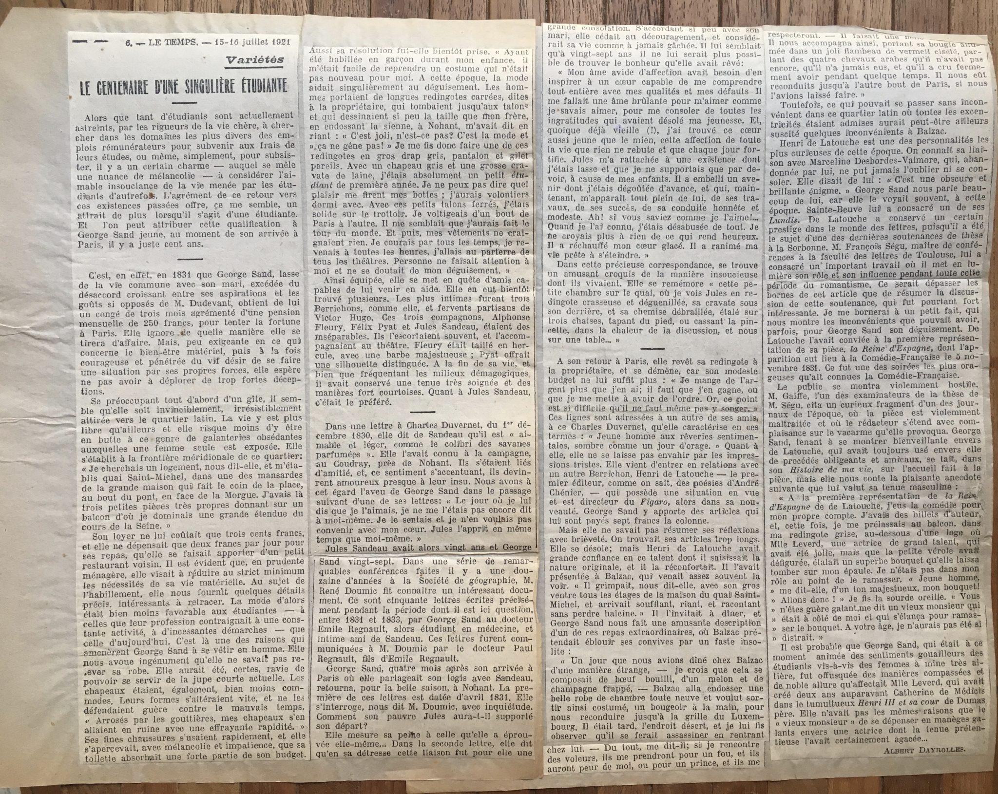 Le Centenaire 1921