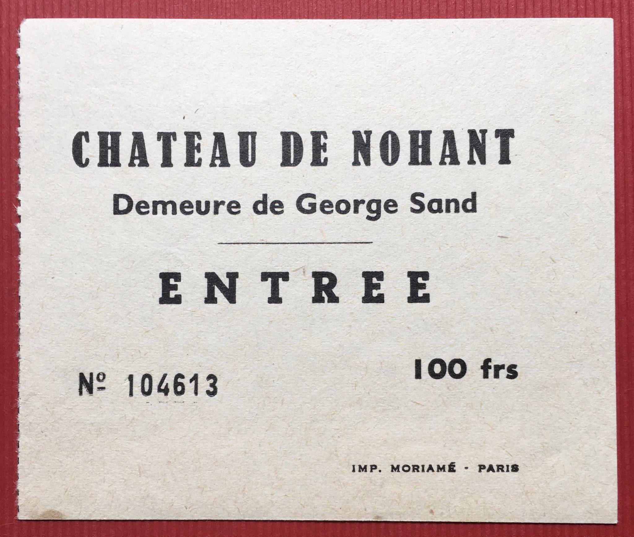 Billet de visite 1971