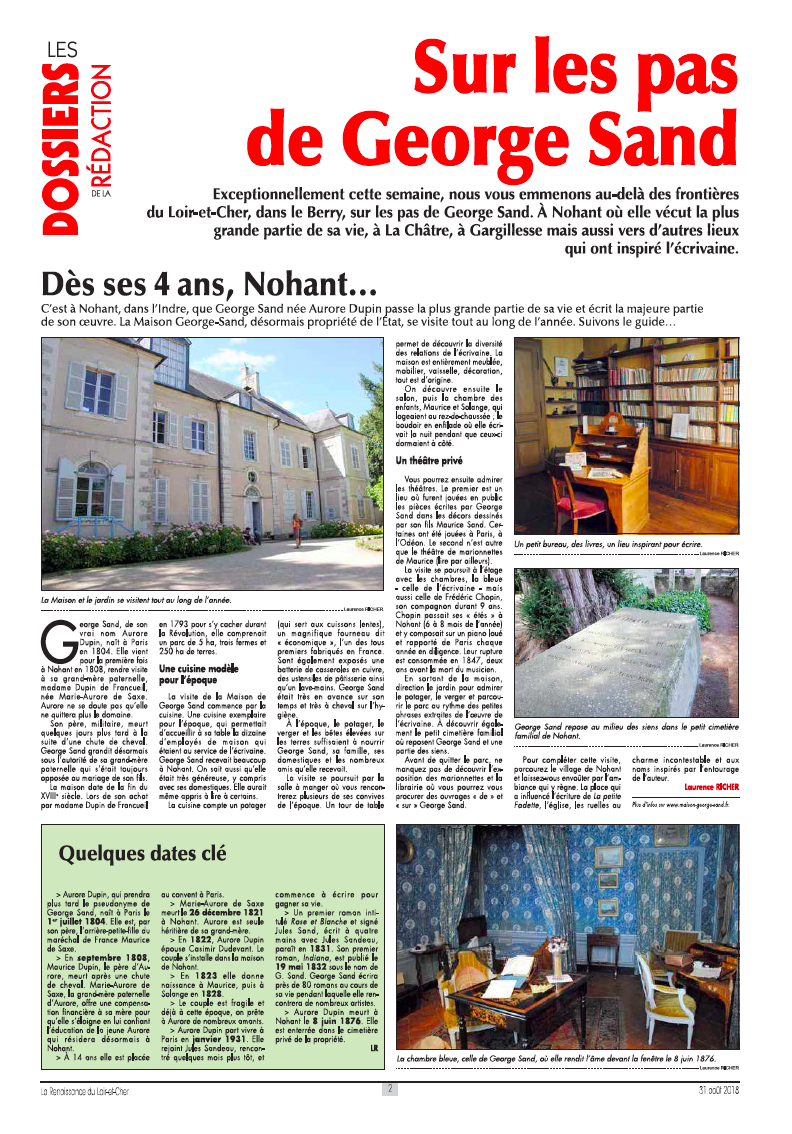 George Sand article mon carnet George Sand